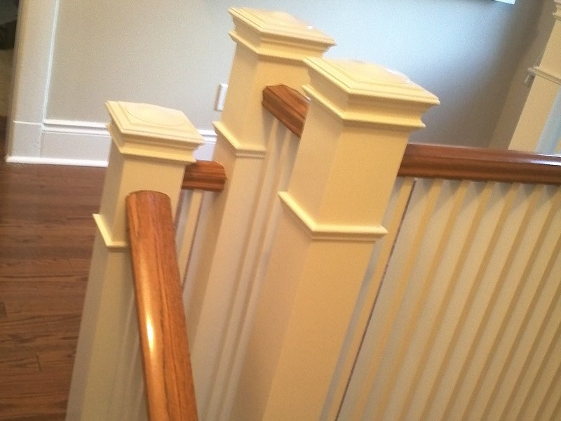 Painted Oak Stairs Handrail Banister Spindle By Adept Services Renovation Contractor