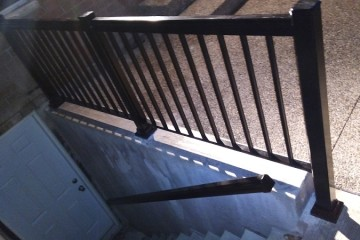 Basement Entrance After Aluminum Railings and Handrail in Mississauga By Adept Services