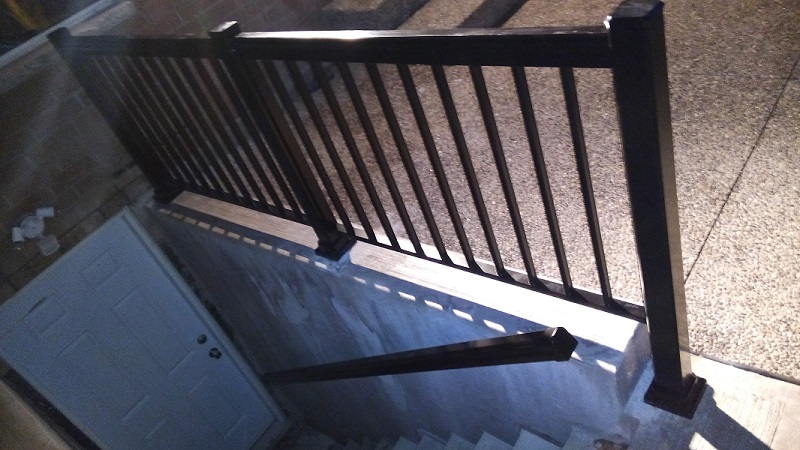 Basement Entrance After Aluminum Railings And Handrail In Mississauga By  Adept Services ...