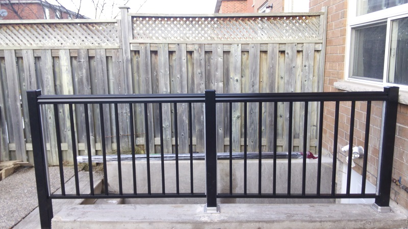 Aluminum railings for outside basement stairs adept services for Adding exterior basement entry