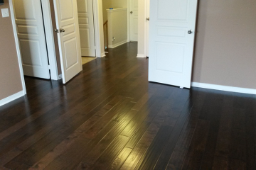 Hardwood Installation Varied Width Baseboards Quarter Round in Oakville Full House Renovation By Adept Services