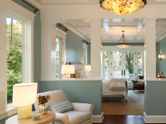 Design Challenge to Build Dividing Wall with Columns and Mouldings and Paint in Georgetown for Adept Services