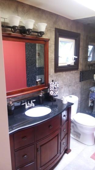 Master Bedroom Ensuite Master Bathroom Renovation Vanity Sink Faucet Dark Trims Mississauga By Adept Services Construction Services